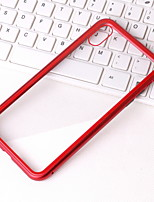 Недорогие -Кейс для Назначение Apple iPhone XS / iPhone XR / iPhone XS Max Прозрачный Кейс на заднюю панель Прозрачный Твердый Металл