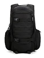 Недорогие -40 L Военный Тактический Рюкзак Дышащий Эластичность Износостойкость На открытом воздухе Охота Пешеходный туризм Походы Оксфорд Черный