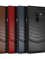 Недорогие -Кейс для Назначение SSamsung Galaxy S9 / S9 Plus / S8 Plus Защита от удара Кейс на заднюю панель Однотонный Твердый Кожа PU