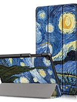 Недорогие -Кейс для Назначение SSamsung Galaxy Tab A2 10.5(2018) T595 T590 / Samsung Tab S5e T720 10,5 / Samsung Tab A 10.1 (2019) T510 Защита от удара / со стендом / Ультратонкий Чехол Цвет неба Твердый Кожа PU