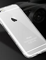 Недорогие -Кейс для Назначение Apple iPhone X / iPhone 8 Pluss / iPhone 8 Прозрачный Кейс на заднюю панель Однотонный Мягкий ТПУ