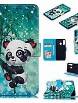 cheap -Case For Huawei Huawei Nova 4 / Huawei P20 / Huawei P20 Pro Wallet / Card Holder / Shockproof Full Body Cases Cartoon / Panda Hard PU Leather