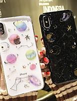 Недорогие -чехол для apple iphone 6 / iphone xs max блеск блеск / рисунок задняя крышка мультфильм / блеск блеск мягкое тпу для iphone 6 / iphone 6 plus / iphone 7