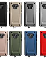 Недорогие -чехол для samsung galaxy note 9 с тиснением задняя крышка сплошной цветной жесткий ПК / ТПУ для Note 9