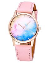 Недорогие -Нарядные часы Кожа Аналоговый Цветной / Нержавеющая сталь