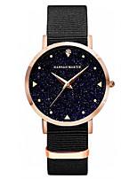 Недорогие -ханна мартин леди модные звездное небо случайные наручные часы с круглым циферблатом и ремешком из полиуретана: hm-xk36-fn