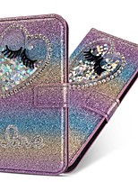 cheap -Case For Samsung Galaxy Note 20 Ultra S20 Plus S10 Plus Wallet Card Holder with Stand Glitter Shine Love Eyelashes PU Leather Case For Samsung S9 Plus S8 Plus S7 Edge Note 10 Plus A51 A71
