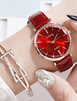 Недорогие -Жен. Кварцевые Цирконий Мода Элегантный стиль Черный Красный Коричневый Искусственная кожа Китайский Кварцевый Лиловый Белый+Черный Темно-коричневый Повседневные часы Имитация Алмазный 1 ед.