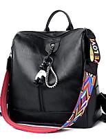 Недорогие -Большая вместимость PU Молнии рюкзак Повседневные Черный