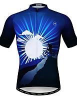 Недорогие -WEIMOSTAR Муж. С короткими рукавами Велокофты Синий Велоспорт Спортивный костюм Джерси Верхняя часть Дышащий Виды спорта Полиэстер Эластан Терилен Горные велосипеды Шоссейные велосипеды Одежда