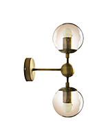 Недорогие -стеклянная настенная лампа современная мода 2 светильника бра бра тень северный ночной свет настенный светильник бронзовая отделка