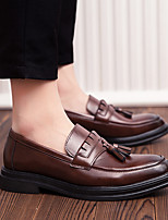 cheap -Men's Dress Shoes Microfiber Spring & Summer / Fall & Winter Casual / British Loafers & Slip-Ons Breathable Booties / Ankle Boots Black / Brown / Tassel