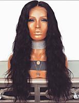 Недорогие -Парики из искусственных волос Афро Стиль Стрижка каскад Без шапочки-основы Парик Черный Черный Искусственные волосы 64~68 дюймовый Жен. Новое поступление Черный Парик Очень длинный