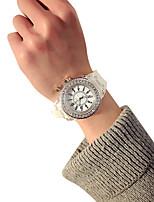 Недорогие -Нарядные часы силиконовый Аналоговый Черный Белый