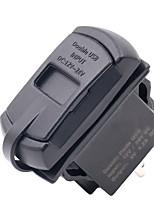 Недорогие -водонепроницаемый 4.2a 5v двойной 2 usb зарядное устройство адаптер питания с вольтметром для мотоцикла автомобиля