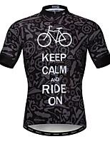 Недорогие -WEIMOSTAR Муж. С короткими рукавами Велокофты Темно-серый Велоспорт Спортивный костюм Джерси Верхняя часть Дышащий Виды спорта Полиэстер Эластан Терилен Горные велосипеды Шоссейные велосипеды Одежда