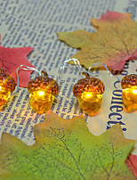 Недорогие -3м гирлянда из лесного ореха 30 светодиодов теплый белый день благодарения Хэллоуин декоративные 5 v 1 комплект