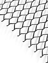 Недорогие -автомобиль серебро / черный алюминиевый сплав передний бампер с шестигранной решеткой решетки (11x25 мм)