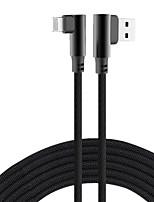 Недорогие -90-градусный USB-кабель 8-контактный быстрая зарядка l зарядное устройство типа c