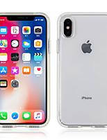 Недорогие -Кейс для Назначение Apple iPhone XS / iPhone XR / iPhone XS Max Прозрачный Кейс на заднюю панель Однотонный Твердый ПК
