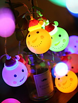 Недорогие -3м креативные милые гирлянды 20 светодиодов многоцветные рождественские декоративные 5 в 1 комплект
