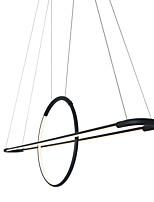 Недорогие -современная люстра линейный подвесной светильник подвесной светильник с каплями света черная картина для гостиной офисная комната / теплый белый / белый / с возможностью затемнения с пультом