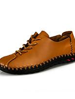 Недорогие -Муж. Кожаные ботинки Кожа Весна / Осень Мокасины и Свитер Дышащий Черный / Белый / Желтый