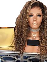 Недорогие -Парики из искусственных волос Афро Квинки Стиль Стрижка каскад Без шапочки-основы Парик Светло-коричневый Светло-золотой Искусственные волосы 50~56 дюймовый Жен. синтетический Светло-коричневый Парик