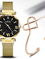 Недорогие -Жен. Кварцевые На каждый день Мода Черный Синий Красный Нержавеющая сталь Китайский Кварцевый Черный Лиловый Розовое Золото Защита от влаги Повседневные часы Cool 30 m 2шт Аналоговый / Один год