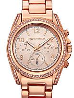 Недорогие -Ханна Мартин женский элегантный бизнес случайный горный хрусталь инкрустация часы с календарем