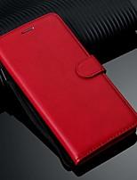 Недорогие -Кейс для Назначение SSamsung Galaxy S9 / S9 Plus / Galaxy S10 Кошелек / Бумажник для карт / со стендом Чехол Однотонный Кожа PU