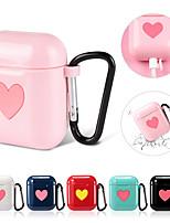 Недорогие -Прекрасные чехлы для наушников для apple airpods силиконовая крышка беспроводной Bluetooth-гарнитура для наушников сердце любовник чехол для airpods