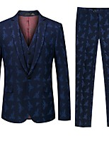 cheap -Tuxedos Tailored Fit / Standard Fit Notch Single Breasted One-button Floral / Botanical