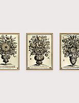 Недорогие -Отпечаток в раме Набор в раме - Абстракция Цветочные мотивы / ботанический Полистирен Иллюстрации Предметы искусства