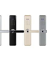 Недорогие -868 Алюминиевый сплав Интеллектуальный замок Умная домашняя безопасность система RFID / Отпирание отпечатка пальца / Разблокировка пароля квартира / Гостиница / Офис