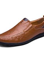 Недорогие -Муж. Комфортная обувь Микроволокно Весна / Осень На каждый день Мокасины и Свитер Для прогулок Дышащий Черный / Коричневый / Желтый
