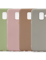 cheap -Case For Samsung Galaxy J6 (2018) / J6 Plus / J4 (2018) Frosted Back Cover Solid Colored TPU