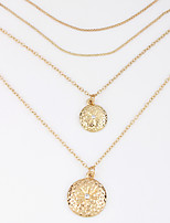 Недорогие -Жен. Ожерелья с подвесками Хром Золотой 40+5 cm Ожерелье Бижутерия 1шт Назначение фестиваль