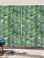 Недорогие -Home Decro Многофункциональные шторы Теплоизоляция Солнцезащитный крем утолщенные плотные водонепроницаемые полиэфирные занавески для ванной спальни / гостиной тепло / звукоизоляция плотные тканевые