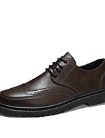 Недорогие -Муж. Официальная обувь Микроволокно Весна лето / Наступила зима Деловые / На каждый день Туфли на шнуровке Дышащий Черный / Коричневый / Хаки