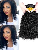 Недорогие -6 Связок Индийские волосы Kinky Curly Необработанные натуральные волосы 100% Remy Hair Weave Bundles Человека ткет Волосы Пучок волос Накладки из натуральных волос 8-28 дюймовый Естественный цвет