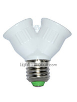 Недорогие -1шт 7 cm E27-2E27 E26 / E27 85-265 V Украшение пластик Разъем для лампочки белый 2 W
