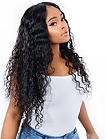 Недорогие -6 Связок Бразильские волосы Kinky Curly Не подвергавшиеся окрашиванию человеческие волосы Remy Человека ткет Волосы Пучок волос One Pack Solution 8-28 дюймовый Естественный цвет / Крупные кудри