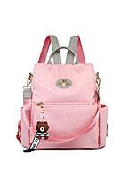 Недорогие -Водонепроницаемость Нейлон Молнии рюкзак Сплошной цвет Повседневные Красный / Розовый / Серый