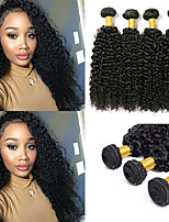 Недорогие -6 Связок Малазийские волосы Kinky Curly Необработанные натуральные волосы 100% Remy Hair Weave Bundles Человека ткет Волосы Пучок волос Накладки из натуральных волос 8-28 дюймовый Естественный цвет