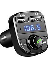 Недорогие -FM передатчик aux модулятор Bluetooth-гарнитура автомобильный комплект автомобильный аудио mp3-плеер с 3.1a быстрой зарядкой Dual USB автомобильное зарядное устройство