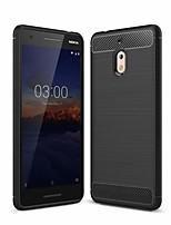 Недорогие -Кейс для Назначение Nokia Nokia 2.1 Защита от удара / Защита от пыли Кейс на заднюю панель Однотонный Мягкий ТПУ