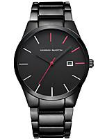 Недорогие -Нарядные часы Нержавеющая сталь Аналоговый Черный Красный Черное серебро