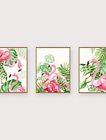 Недорогие -Отпечаток в раме Набор в раме - Животные Цветочные мотивы / ботанический Полистирен Иллюстрации Предметы искусства