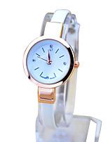 Недорогие -Часы-браслет Кожа Аналоговый Белый Черный Красный / Нержавеющая сталь